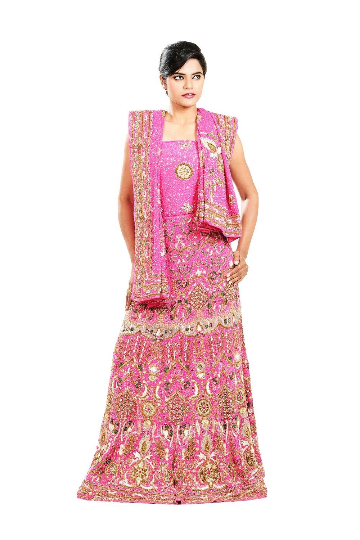 Indian Lehenga Choli For Women Party Wear Pink Designer Traditional