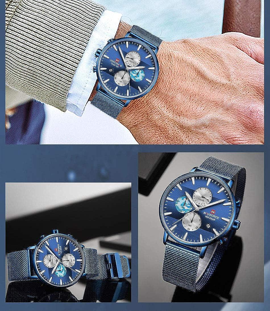 Orologio da uomo, al quarzo, cinturino in acciaio inossidabile, impermeabile, adatto per gli uomini 9169 Bebe