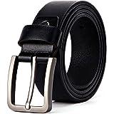 XIANGUO Cinturón Negro Y Marrón Con Hebilla Plateada