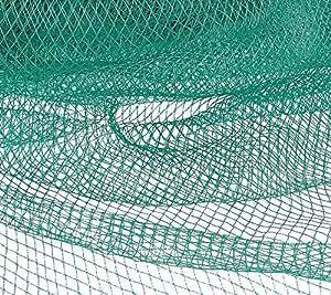 Red de protección para aves verde, grande–amortigua los, 10m de ancho y 50m de largo (500m²) Red antipájaros resistente y estable, Pájaros con pájaro Red para árboles frutales–Uvas y otras frutas en el diseño de frutas y vino.