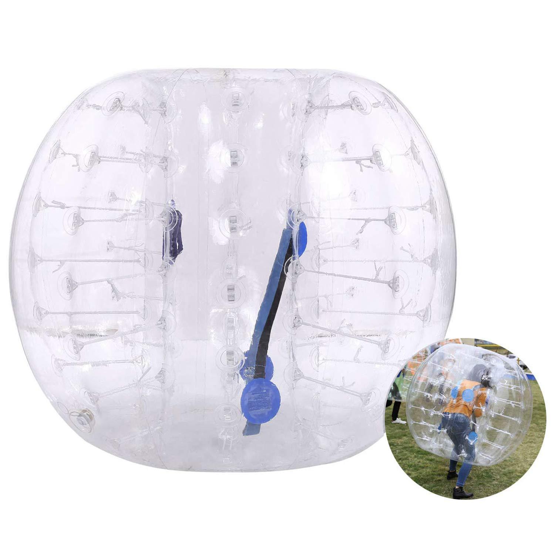 インフレータブルバンパーボールバブルサッカーボールDia 4 /5 ' (1.2 /1.5 M) Zorb Ball Humanハムスターボールの大人と子供 B07GS5XPWV  透明 5 FT