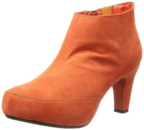 Andrea Conti 0616633 - Botines plataforma, talla: 40, color: naranja - Orange