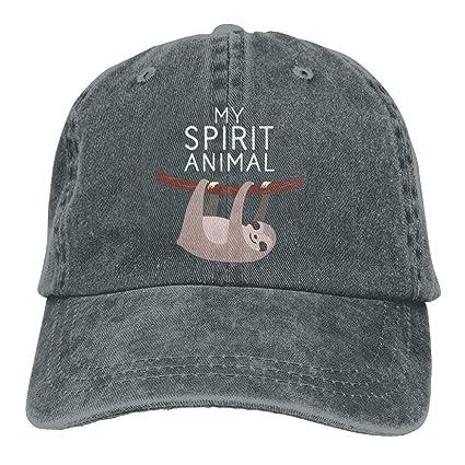Unisex Ajustables Gorras de béisbol de Mezclilla Mi espíritu Animal es una Gorra de Hiphop de