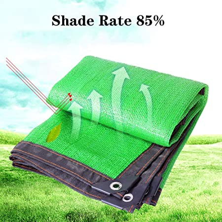 KKJKK 85% Paño de la Cortina del Sol Resistente A Los UV Malla de Sombreo Panel de Malla Sombra Malla Lona para Pérgola Cubierta Pabellón Al Aire Libre Invernadero Jardín,Verde,1X1m: Amazon.es: Hogar