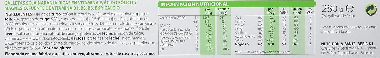 Gerblé - Galletas Soja Naranja - 280 g - [Pack de 4]: Amazon.es: Alimentación y bebidas