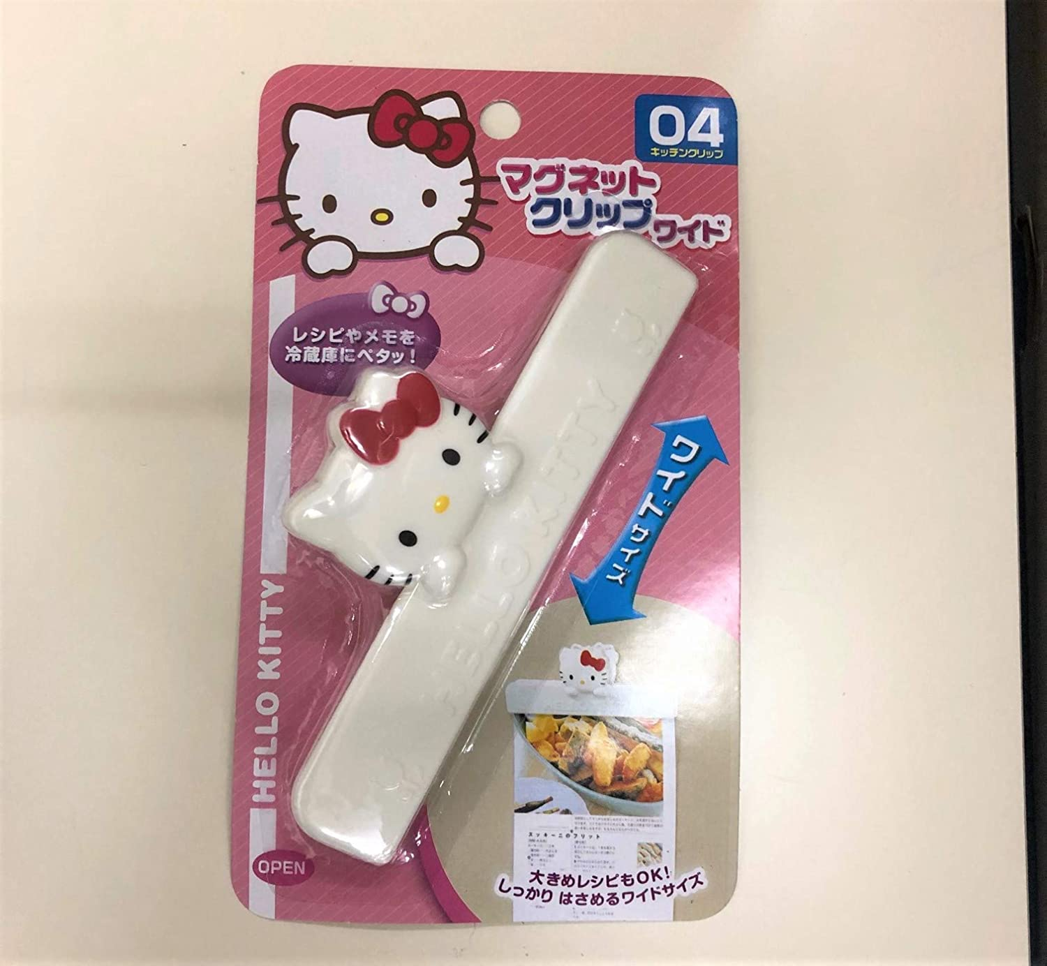 Hello Kitty Magnet Clip(Wide) Refrigerator Fridge Paper Magnetic Clasp Holder Memo