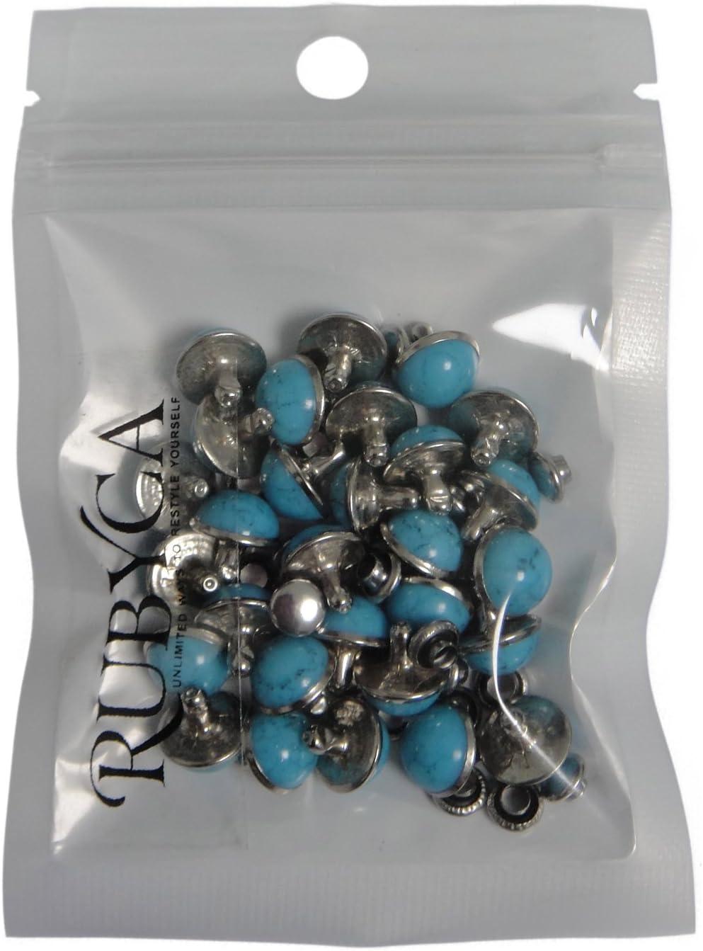 rubyca blau t/ürkis Rapid Nieten Nieten DIY leather-craft f/ür Tasche Schuhe Armband Tandy Leder