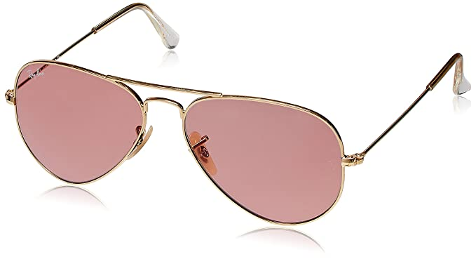 9d26f8772 Ray-Ban Aviator Sunglasses (Pink) (RB3025|001/4B58): Amazon.in ...