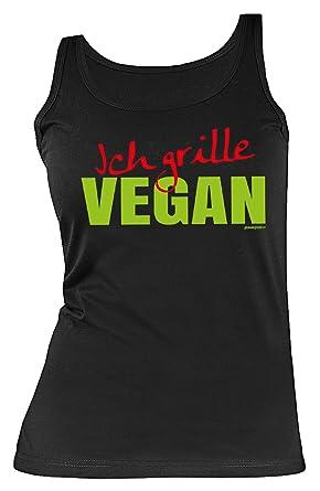 Veganer Grill Spass Top Damen Fun Trager Shirt Rubrik Lustige Spruche