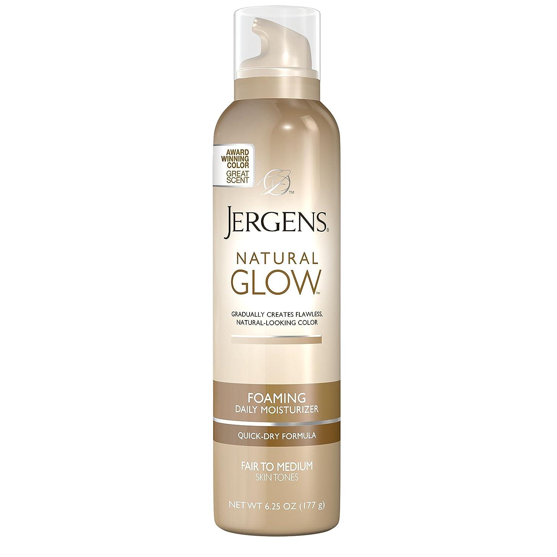 Jergens Natural Glow Foaming Daily Moisturizer for Body, Medium to Tan Skin Tones, 6.25 Ounces KAO Brands U-SC-2712