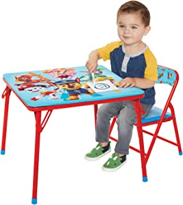 Paw Patrol Jr. Activity Table Set with 1 Chair