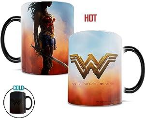 Morphing Mugs Wonder Woman Movie Power Grace Wisdom Heat Reveal Ceramic Coffee Mug - 11 Ounces