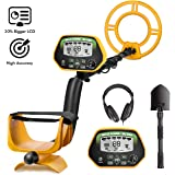 RM RICOMAX Professional Metal Detector GC-1037 [Disc & Notch & Pinpoint Modes] Metal Detector Waterproof IP68 with High Accuracy [Advanced DSP Chip] Metal Detectors for Adults with Headphones