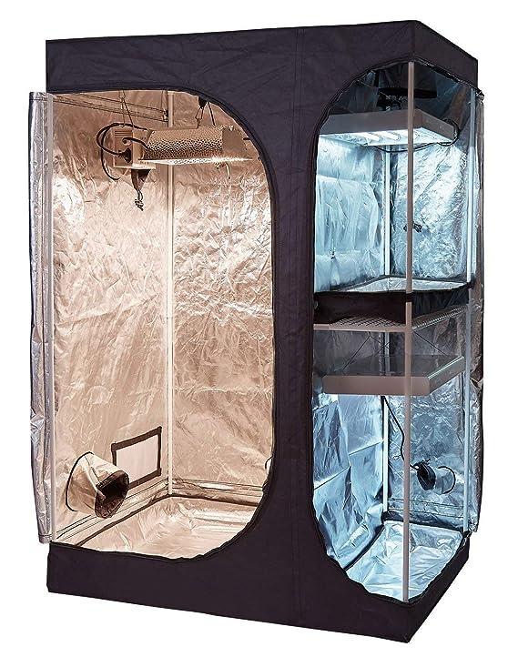 Amazon.com: Oppolite - Tienda de campaña hidropónica 2 en 1 ...