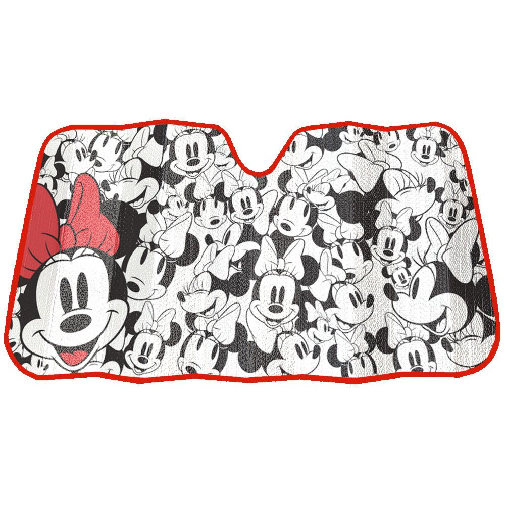 Amazon.com  Minnie Mouse Expressions Faces Disney Auto Car Truck SUV  Vehicle Universal-fit Front Windshield Sunshade - Accordion Sun Shade   Automotive 18e46db9fcb