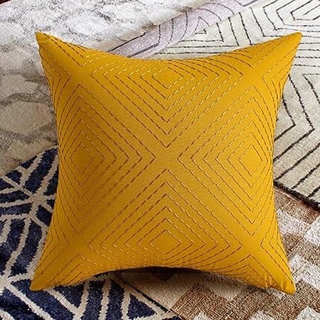 DWW Cojines Amarillos Modernos Funda de Almohada de Tiro