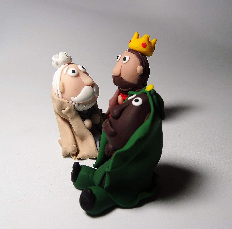 Reyes Magos de arcilla: Amazon.es: Handmade