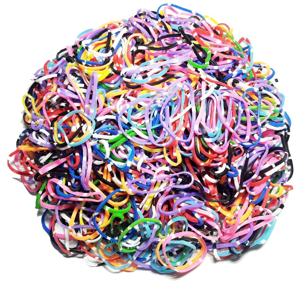 1000PCS Disposable Rubber Bands Elastic Hair Ties Rings Band Kids Girl Ponytails