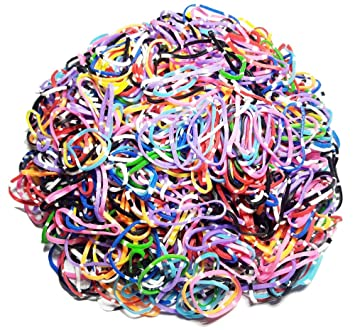 1000PCS Cute Girls Colourful Ring Disposable Elastic Hair Bands Ponytail Hol