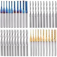 TopDirect 40Pcs Fresa CNC, molinillos de corte