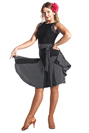 64991905cda Amazon.com  DanceLuxe Let s Swing Polka Dot Latin Ballroom Dance ...