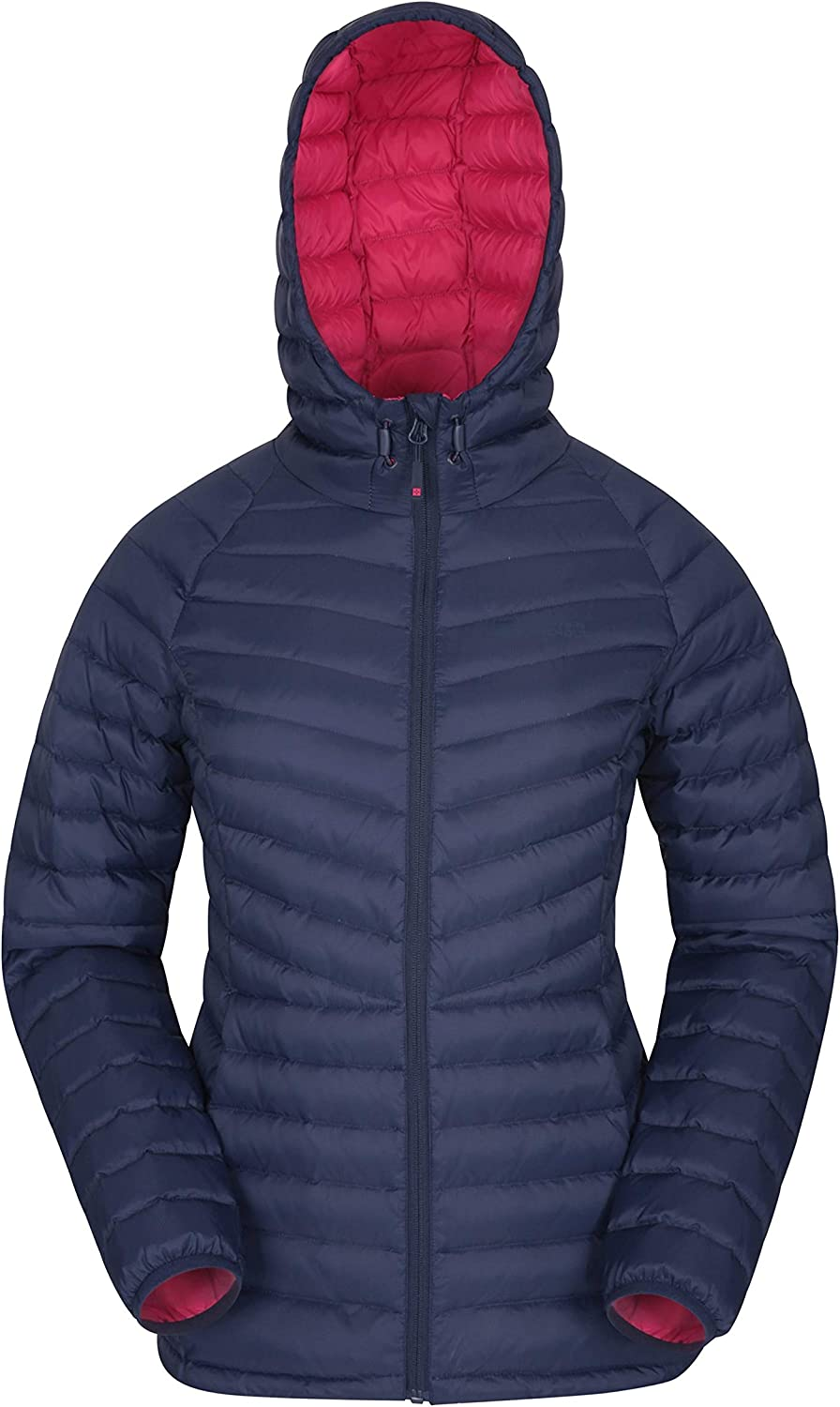 Adjustable Water Resistant Ladies Winter Coat Insulated Puffer Jacket for Winter Travelling /& Daily Use Mountain Warehouse Skyline Womens Hydrophobic Down Jacket
