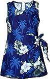 Pacific Legend Girls White Hibiscus Monstera Sarong Dress