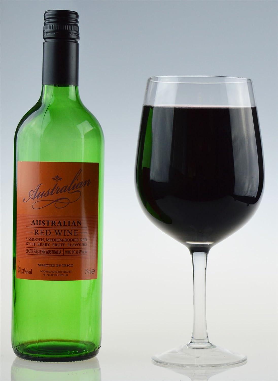 Gigante Copa de Vino, Fiesta de cristal. Sostiene una botella entera de vino, 750ml: Amazon.es: Hogar