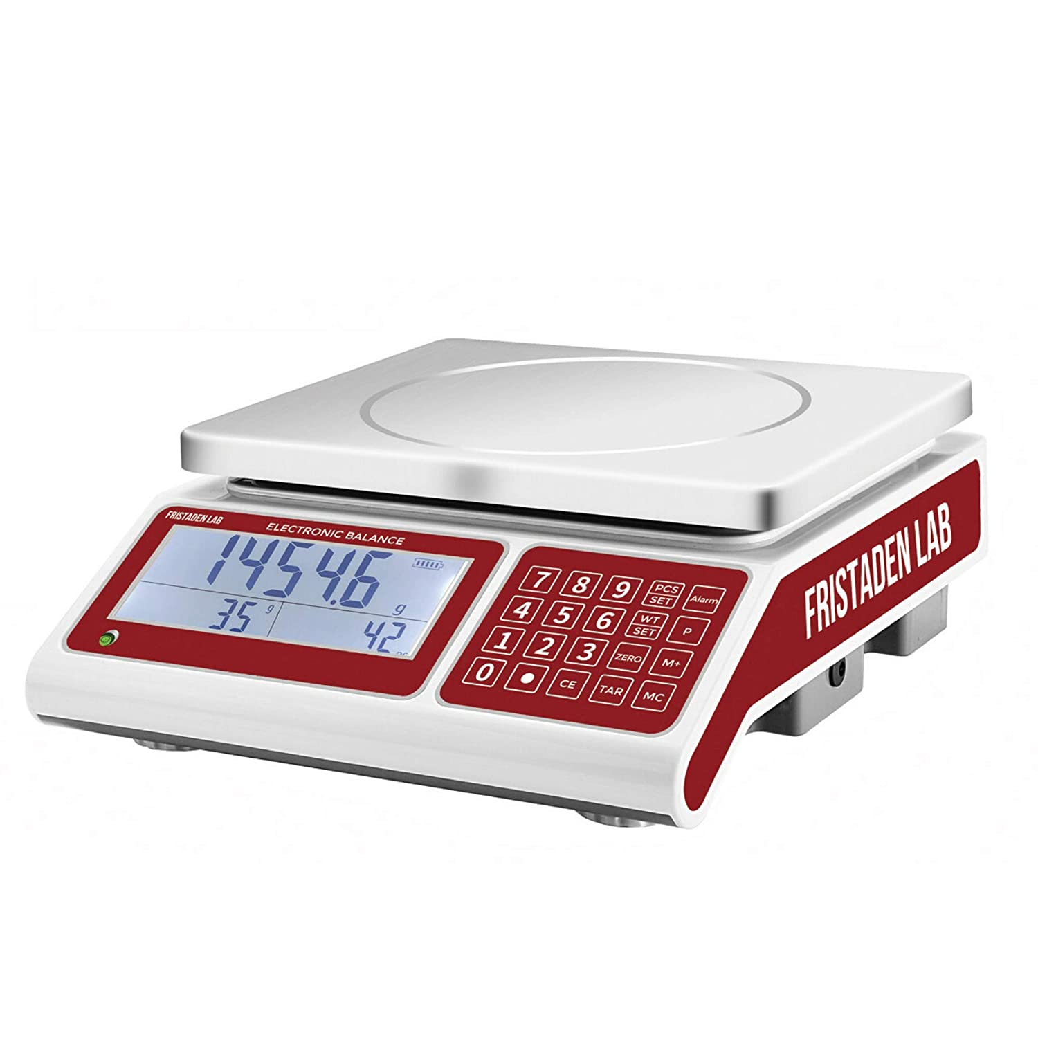 American Fristaden Lab Industrial Counting Scale | Digital Balance for Counting Parts and Coins with 30kg Capacity & 0.5g Accuracy | Electronic Gram Scale | 1YR Warranty