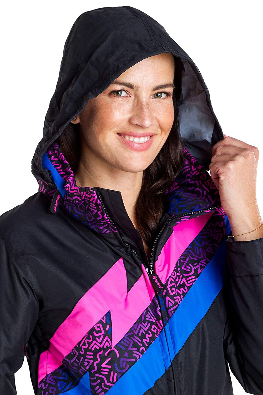 Amazon.com  Tipsy Elves Women s Black Nightrun Retro Ski Suit - Old School  Snowsuit for Female  Clothing d7d32945e