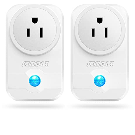 Smart Plug, SZMDLX 2 Pack Smart Outlet Wifi Plug Wireless Outlet Wifi Timer  Socket Remote