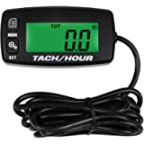 Searon Tach Hour Meter Tachometer - Inductive Tachometer for Outboard Engine Chain Saws Tractors Lawnmowers Motorcycles…
