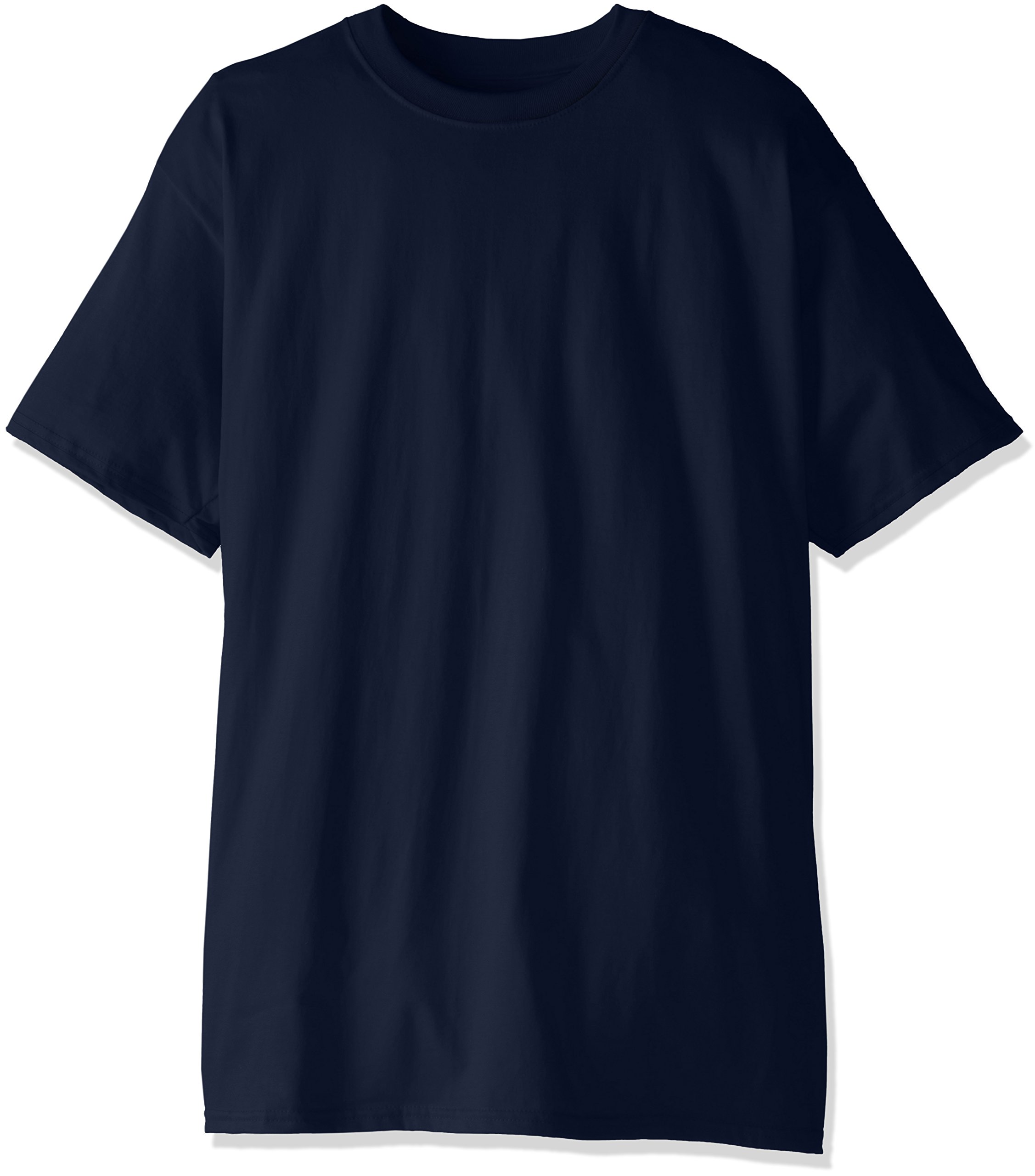 Hanes Men's Tall Short Sleeve Beefy-T, Navy, X-Large/Tall (Pack of 2)