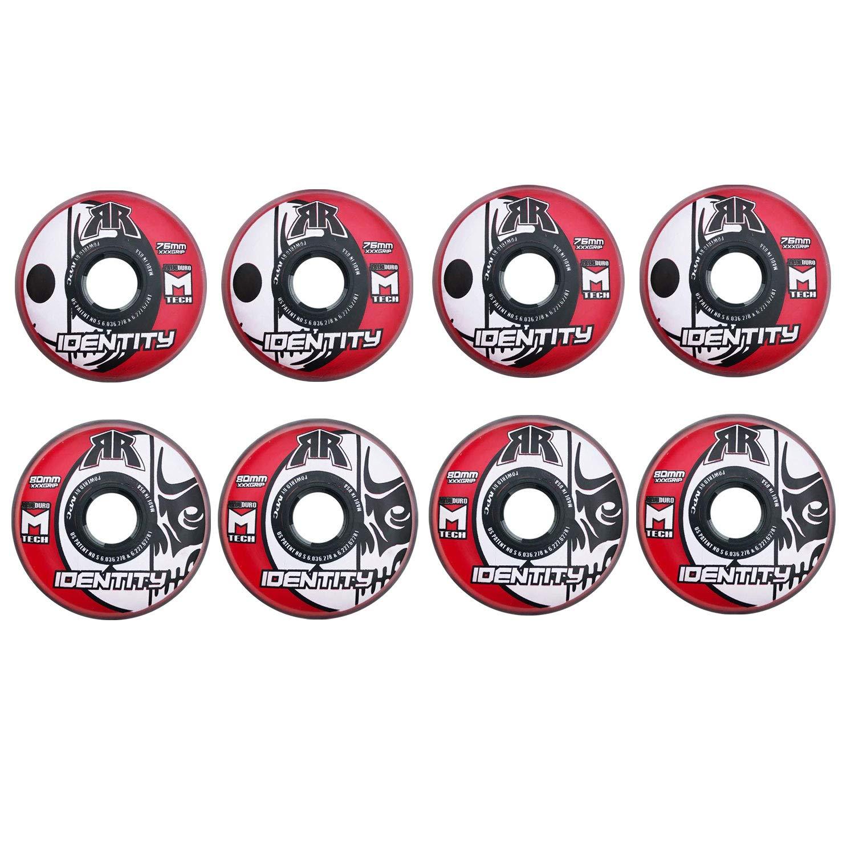 Rink Rat Wheels 80mm / 76mm Hilo 76A Identity XXX Rd Inline Indoor Roller Hockey
