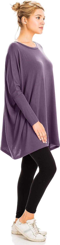 NANAVA Women's High-Rise Regular Plus Premium Cotton Capri Leggings Lilac Grey - Sweater Fabric
