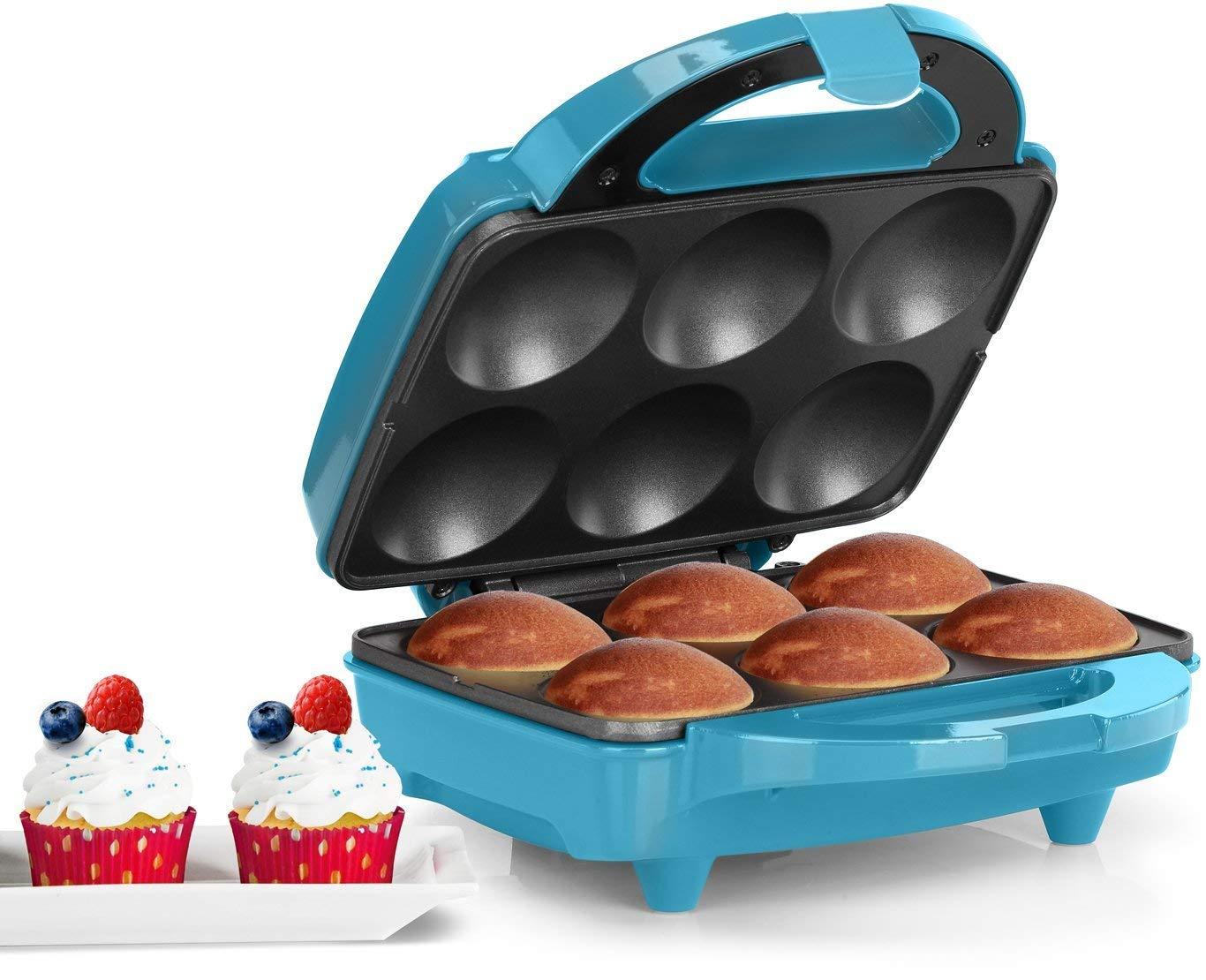 Holstein Housewares HF-09013T Fun Cupcake Maker - Teal/Stainless Steel (Renewed) by Holstein Housewares