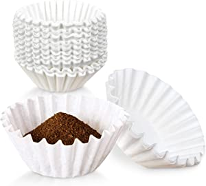 [500 Pack] Coffee Filters 8 to 10 Cups Size - White Bunn 20016 Decanter Style Brewer - Large Disposable Eco-Friendly Commercial Paper Basket Coffee Filter for Home, Cafes, Restaurants, and Offices Use