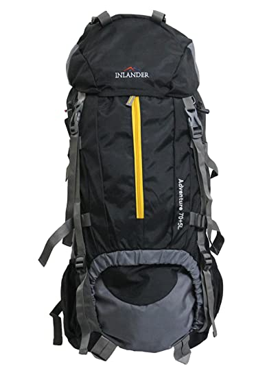 INLANDER 70L Black Travel Bag Backpacking Backpack for Outdoor ...