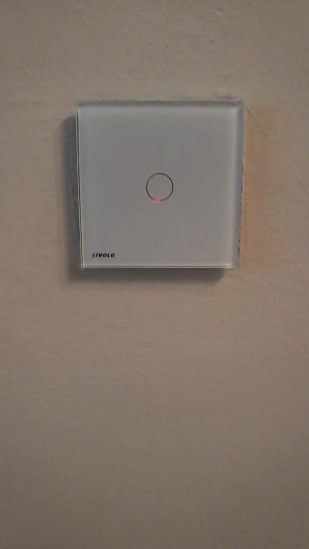 LIVOLO Weiss Lichtschalter mit LED Anzeige Licht Touch Sensor Panel ...
