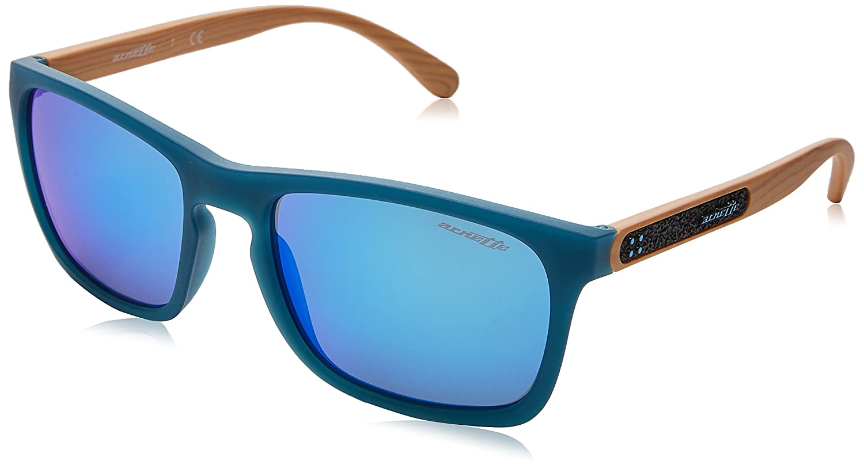 e7eceb8505 Amazon.com  Arnette Men s Burnside Non-Polarized Iridium Rectangular  Sunglasses matte turquoise 56.1 mm  Clothing