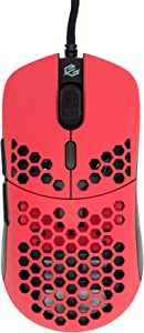 Gwolves Hati 2020 Edition Ultra Lightweight Honeycomb Design Wired Gaming Mouse 3360 Sensor - PTFE Skates - 6 Buttons - Only 61G (Faze Red)