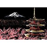 J-base スクラッチアート 削るだけで美しいアート ヒーリング 心やすらぐ アートセラピー (Mount Fuji)