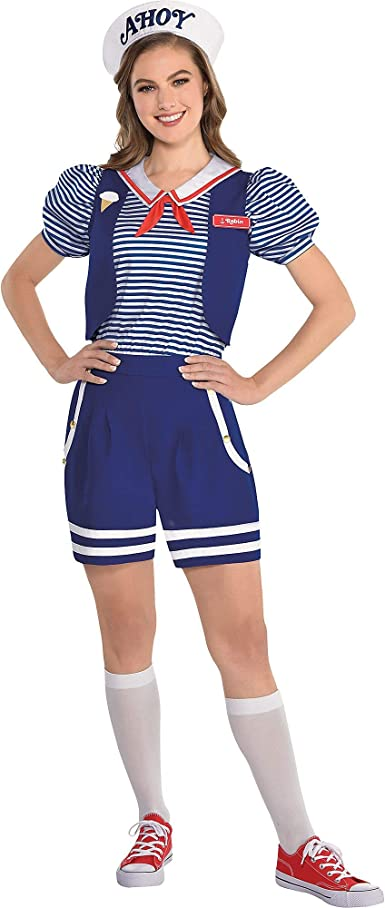 Scoops Ahoy costume White Collar Toddler girl Kids Women Halloween costume Cosplay Scoops ahoy Robin stranger things Stranger things costume