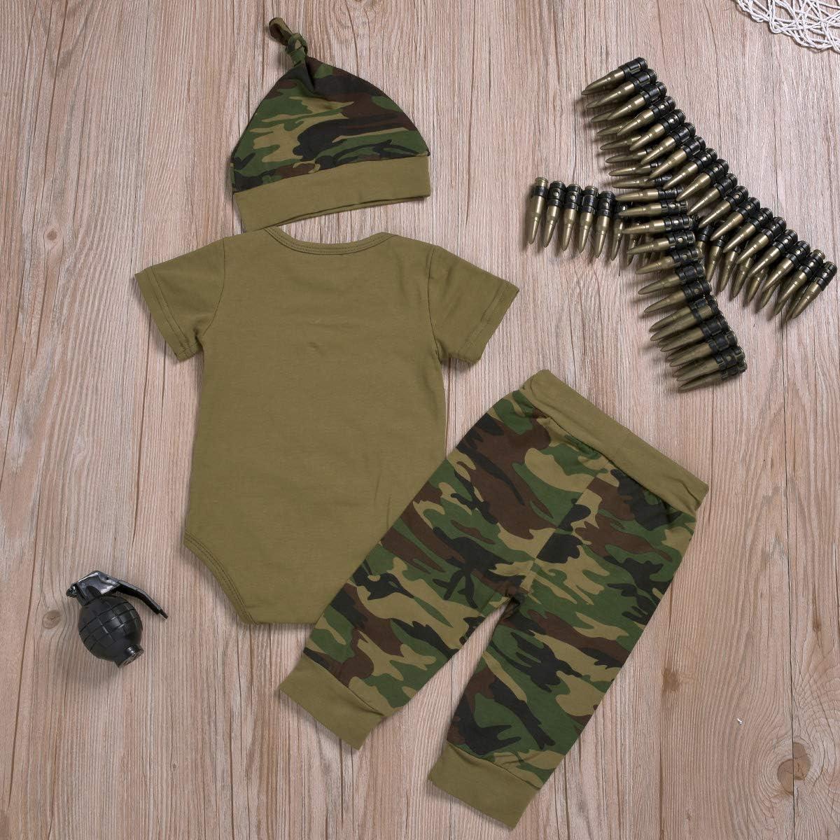 pantalon long Borlai Ensemble de v/êtements assortis pour b/éb/é fille gar/çon avec motif camouflage chapeau 0 /à 24 mois