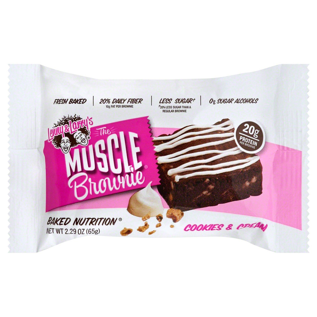 Lenny & Larry's Cookie's and Cream Muscle Brownie, 2.29 Ounce, 12 Count