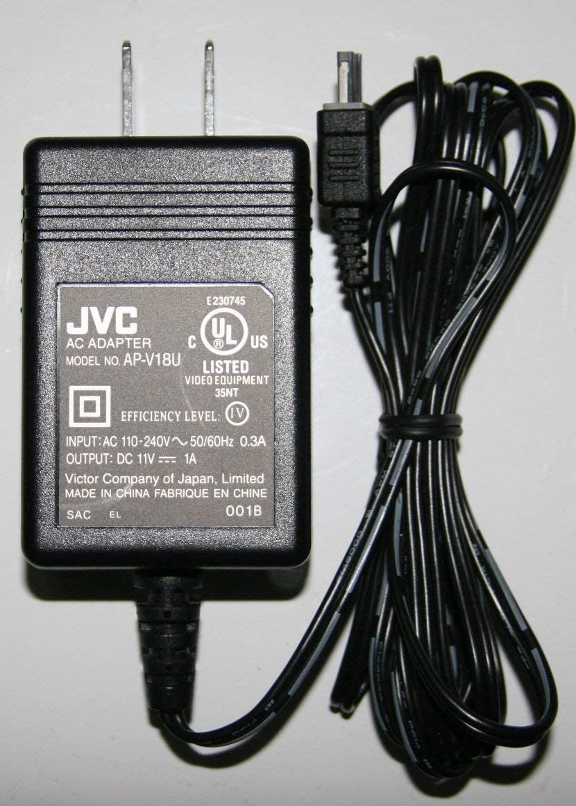 GR-AX890US GZ-MS100RU GR-D230US GZ-HM1 GR-D395US GZ-MS100U GR-D375US GZ-MS100 HQRP Replacement AC Adapter//Charger for JVC GR-D371US GZ-HM1SUS Camcorder with USA Cord /& Euro Plug Adapter