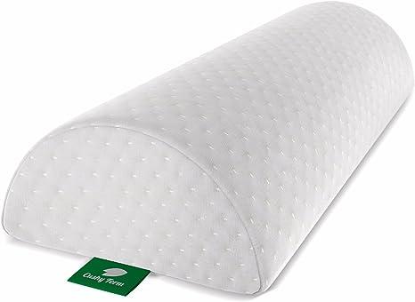 Half Bolster Memory Foam Lumbar Support Pillow Bed Waist Sleeping Cushion