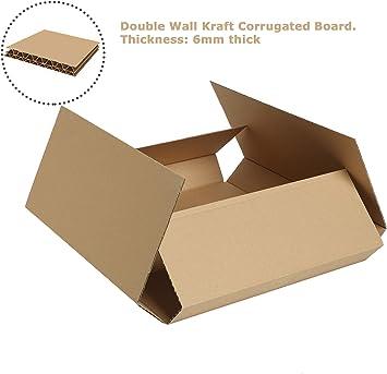 Caja de embalaje – 568 mm x 466 mm x 70 mm – cartón ondulado de ...