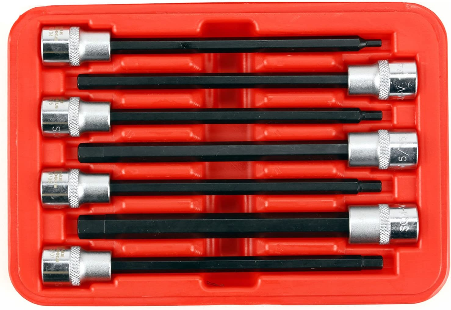 """SAE In-Hex 3//8/"""" Drive Sockets 7 Piece Set T/&E Tools 93105 New Reduced Price"""