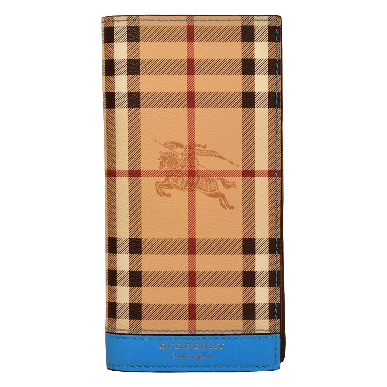 Burberry cartera billetera bifold de hombre en piel nuevo Cavendish blu: Amazon.es: Zapatos y complementos